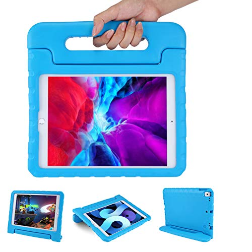 Kids Case for iPad 8th/7th Generation 2020 with Handle   Blosomeet Full Protective Kid-Proof Cover for 10.2 Inch iPad 2019 with Stand Rugged Lightweight EVA iPad Pro 10.5 Case for Boys   Blue