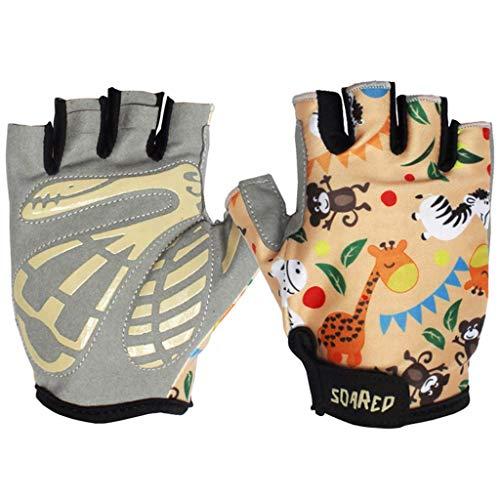Gogokids Kinder Radfahren Handschuhe Halbfinger Fahrradhandschuhe - Mädchen Jungen Sport Handschuhe für Roller Skating, Rennrad, Mountainbike, Kletterei