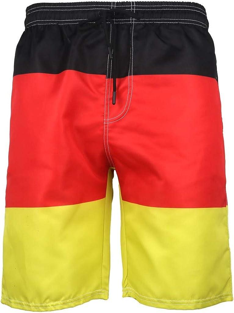 MODOQO Men's Swim Trunks-Quick Dry Fashion Color Patchwork Bathing Suit Shorts