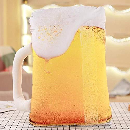 CPFYZH Simulazione 3D Forma di Cibo Cuscino di Peluche Torta caffè Birra Giocattolo di Peluche Cuscino per Divano Decorazione della casa Regalo Divertente per Bambini-Birra