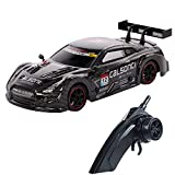 GoolRC Racing Drift RC Car, 1/18 Scale 4WD 2.4GHz Remote Control Car, 28km/h High Speed Racing Car for Adults and Kids (Black)