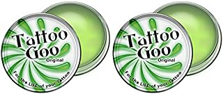 Tattoo Goo Original Aftercare Healing Lotion Ointment Salve for the Life of Your Tattoo : Size 0.75oz / 21g (Pack of 2)