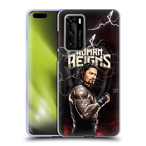 Head Hülle Designs Offiziell Offizielle WWE Roman Reigns Superstars Soft Gel Handyhülle Hülle kompatibel mit Huawei P40 5G