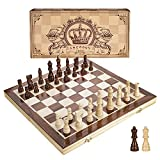 INTELLIGENT ENLIGHTENMENT - Not only suitable for adults playing with fun, this magnetic chess set could be a useful tool to enlighten your kids and stimulate their intelligence. Chess learning is no longer boring, but with joy and interest. Perfect ...