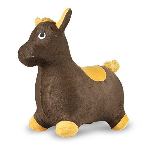 Chromo Inc - Inflatable Ride-On Toy - Horse Brown