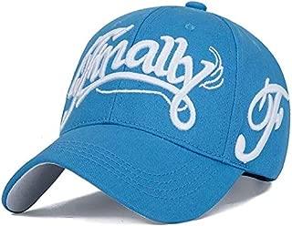 Mini personality baseball cap Letter embroidery baseball cap female casual women's fashion baseball cap sun hat girl gift (Color : Light Blue)