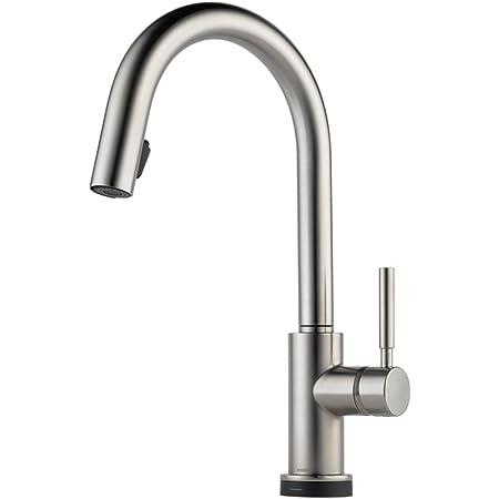 Solna dejta. Brizo LF-MW-ECO Solna One Handle Pulldown Kitchen Faucet in Matte White
