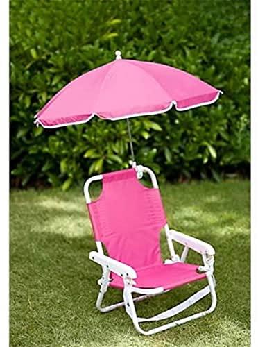 TXXM Kids Parasol Silla - Kids Dickchair & Parasol Set Pink - Silla de Playa ✅