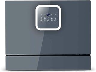 Gpzj Inicio Lavavajillas de encimera Compacto Mini lavavajillas portátil en Acero Inoxidable Interior para apartamento Oficina Hogar Cocina de 8 Juegos