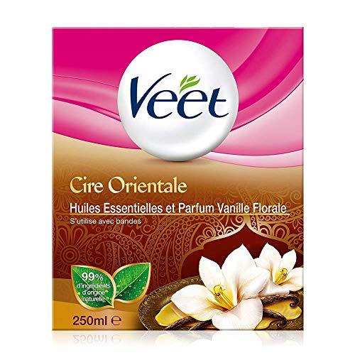 Veet Pot de cire orientale chaude, formule douce aux huiles essentielles - La boite de 250ml