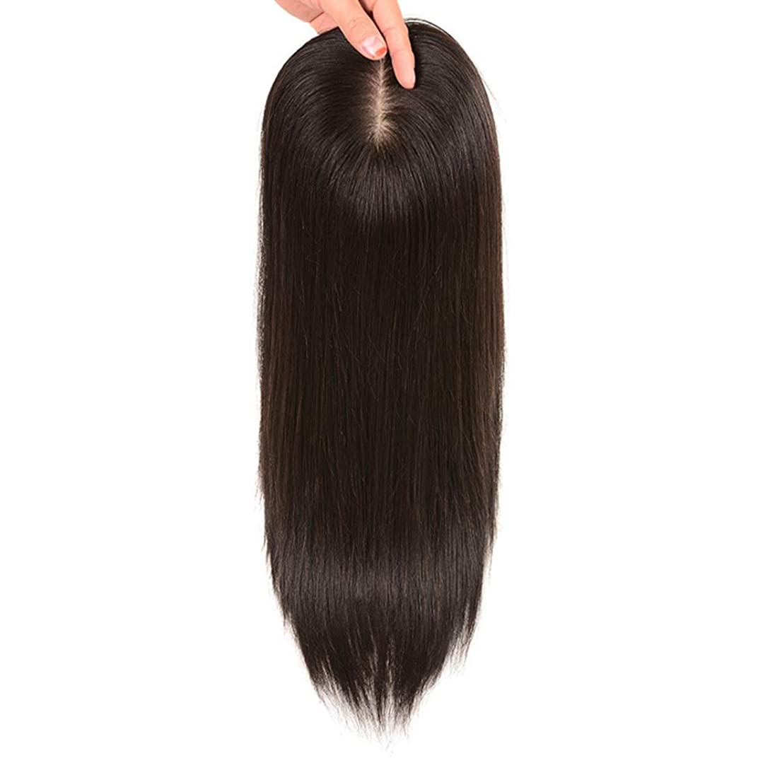 石鹸座標価値のないBOBIDYEE ヘアエクステンションの女性のストレートヘアクリップ目に見えない手の針本物の髪の毛のボリュームとカバーホワイトヘアの女性のかつらレースのかつらロールプレイングかつら (色 : Natural black, サイズ : [16x18] 35cm)