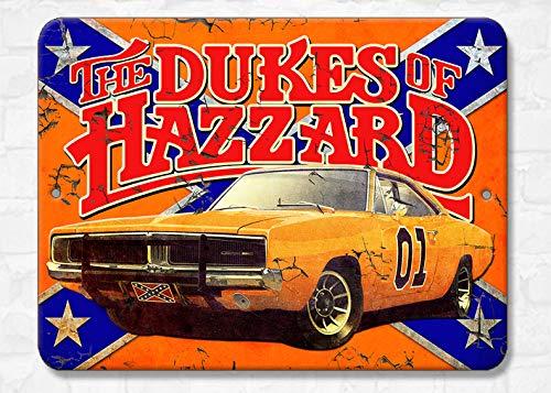 BA IMAGE Dukes of Hazzard Vintage Collectors Aluminum Sign Wall Art (9x12 Metal Sign)