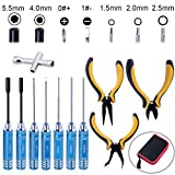 Hobbypark 11 in 1 Professional Multi RC Tools Kits Box Set Screwdriver Pliers Wrench Repair for RC Car Multirotors Airplane Boat