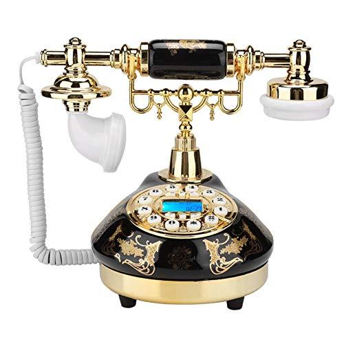Fournyaa Teléfono Retro, teléfonos Decorativos Vintage Teléfono Digital Vintage con Soporte para Sala de Estar para Regalos
