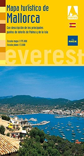 Mapa Turístico de Mallorca. Con descripción de los principales puntos de interés de Palma y de la isla (Mapas turísticos/ serie amarilla)