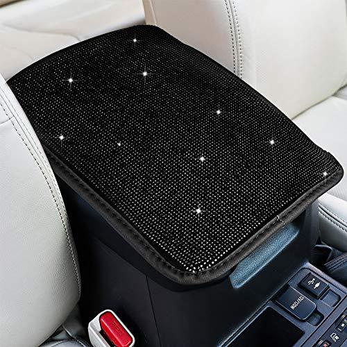 eing Suporte para console central de automóvel, capa protetora para assento de carro, ajuste universal, acessórios de decoração de carro para mulheres, 33 x 22 cm, preto