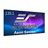 Elite Screens Aeon Series, 125-inch 2.35:1, 8K / 4K Ultra HD Home Theater Fixed Frame EDGE FREE Borderless Projector Screen, CineWhite UHD-B Front Projection Screen, AR125WH2-WIDE