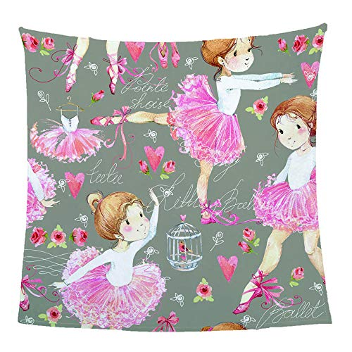 MSQRP 3D Printed Flannel kids Blanket,Ballet girl,super soft fluffy Bed Couch Plaid double single beds blanketsk,mattress bed cover Throw christmas gifts-130x150cm