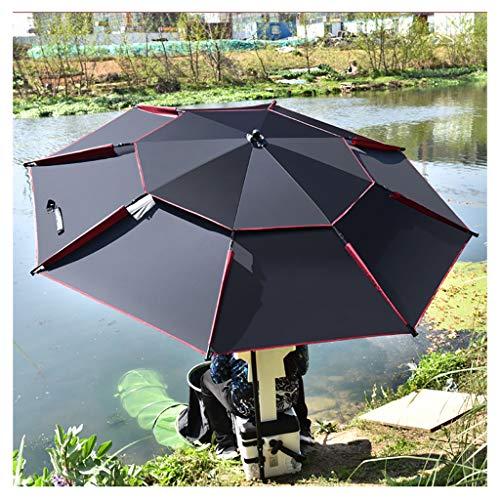 YDDZ Gartenschirme Outdoor-Angelschirme Regensturmsicher Sonnen- und UV-beständig Zweilagiges Design Einstellbares Design Starke Tragfähigkeit