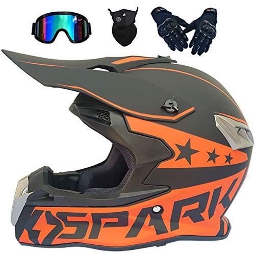 LCRAKON Cascos de Motocross MJH-02 Casco Moto Niño Adulto Homologado Dot Cascos...