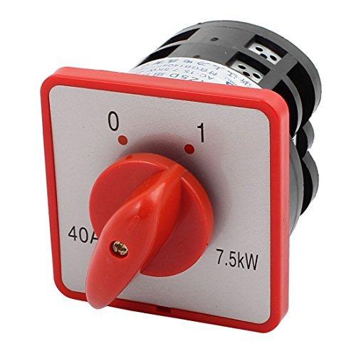 DealMux AC380V 40A Interruptor de Cambio de combinación de Leva rotativa de 8 Posiciones y 8 terminales