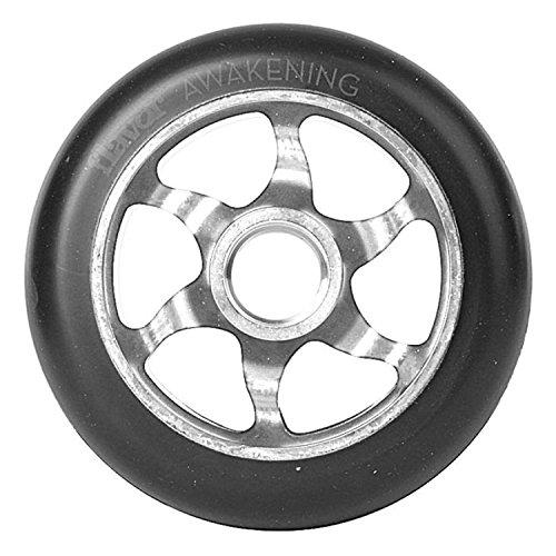 Flavor Awakening 6er - Rueda para patinete (110 mm), color negro y plateado