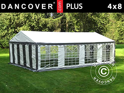 Dancover Partytent PLUS 4x8m PE, Grijs/Wit