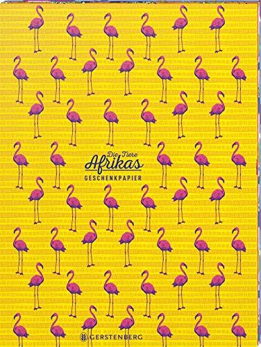 Die Tiere Afrikas Geschenkpapier-Heft Motiv Flamingo: 2 x 5 Bögen