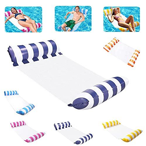 Aufblasbare Hängematte,Aufblasbare Wasserhängematte,luftmatratze pool,4 in 1Aufblasbares Schwimmbett,Wasser Hängematte Pool,Pool Aufblasbare Hängematte,Wasserhängematte mit Netz Erwachsene