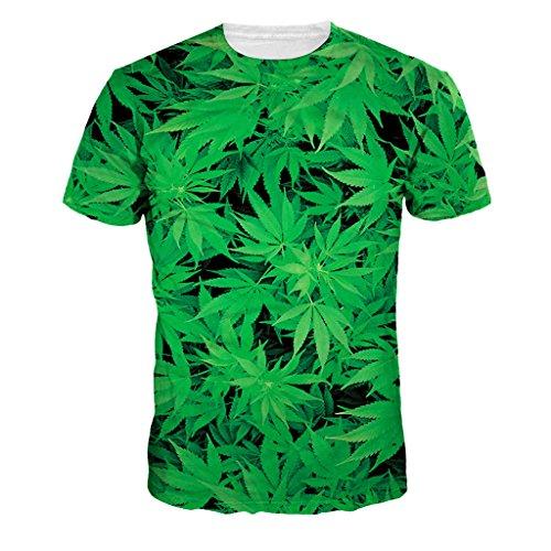 Camiseta de hojas de Marihuana de camuflaje