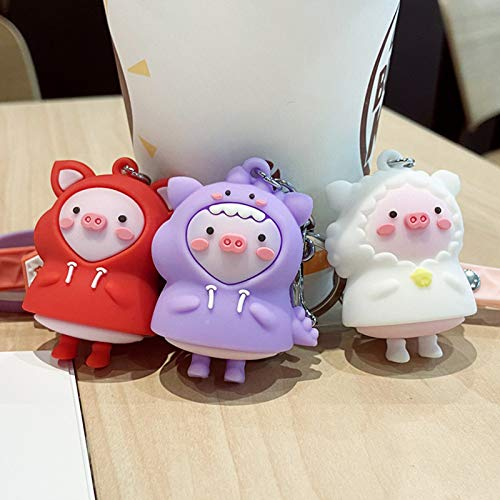 helegeSONG Costume Piggy Keychain, …