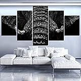 5 simples colores frescos cabeza de elefante lienzo pintura carteles de animales para el hogar sala ...