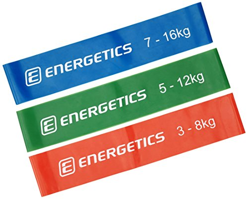 ENERGETICS Mini Bands Set Fitnessbänder, Red/Green/Blue, One Size