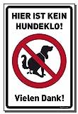 König Werbeanlagen Schild Hier ist kein Hundeklo! 30 x 20 cm wahlweise Schild oder Aufkleber...