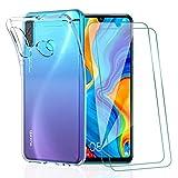 KEEPXYZ Coque Huawei P30 Lite, avec Protection d'écran Verre Trempé pour Huawei P30 Lite, Silicone...