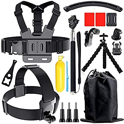 Accessories Kit for Gopro Hero 8 7 6 5 4, Action Camera Accessories Compatible with Xiaomi Yi DJI AKASO APEMAN Campark SJCAM Action Camera etc from gebalage