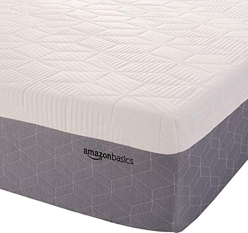 Amazon Basics Cooling Gel-Infused, Medium-Firm, Memory Foam Mattress, CertiPUR-US Certified - 12 Inch, Queen