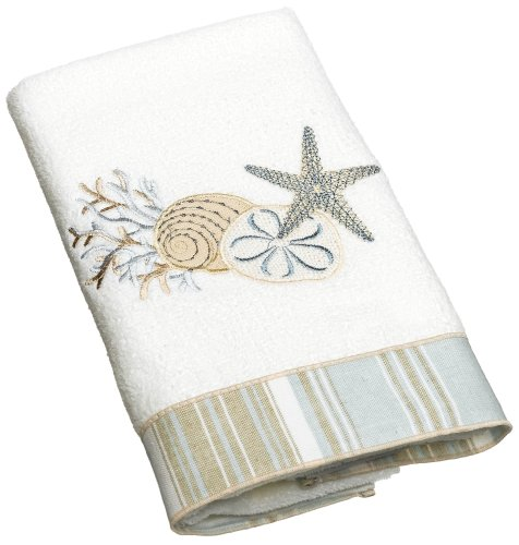 Avanti Linens By The Sea Hand Towel, White,10972WHT