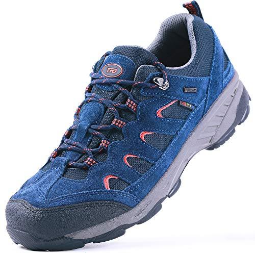 TFO Hiking Shoes Men Non-Slip Breathable for Outdoor Trekking Walking Blue