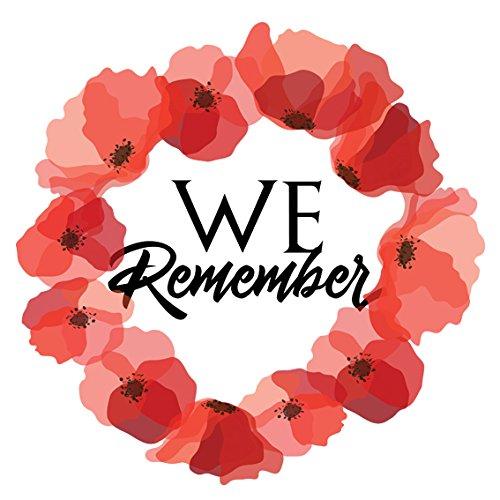 Influent UK Lest We Forget Remembrance Day Sticker, Poppy Flower Decal, Car, Window, Fridge, Laptop Sticker (MEDIUM 10x10cm)