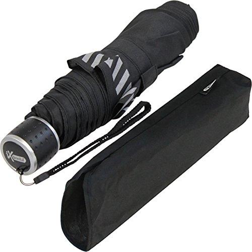 iX-brella Mini Ultra Light Taschenschirm Reflex Sicherheitsschirm - extra leicht (schwarz)