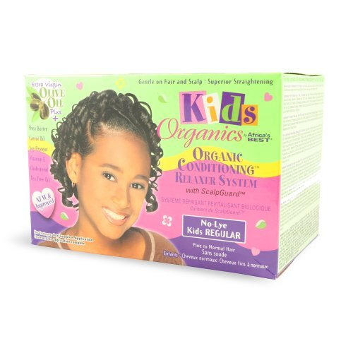 Africa's Best Kids Organics No-Lye Organic Conditioning Relaxer System with Scalp Guard for Fine to Normal Hair, Kids Regular Kids, Infant, Child, Baby Products bébé, nourrisson, enfant, jouet