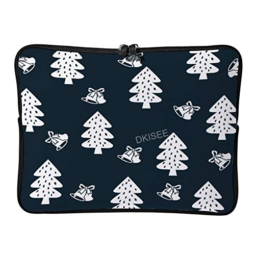 Lplpol Christmas Tree Laptop Sleeve for Women Men, Compatible with 13 Inch MacBook Air/MacBook Pro Notebook Two-way Zippers Laptop Carrying Bag Case Cover