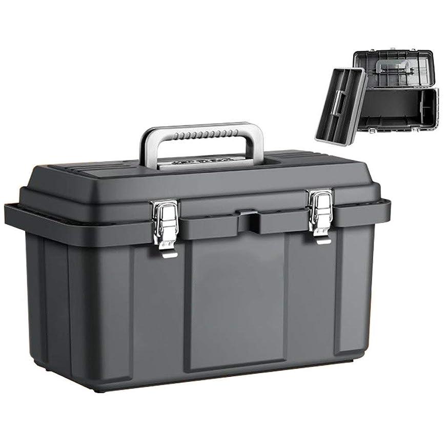流行休日十代の若者たちハードウェアツールボックス自動車修理ストレージツールは、多機能家庭用ツールチェストPpのプラスチック電気技師ツールボックスを設定します。 (サイズ : Large)