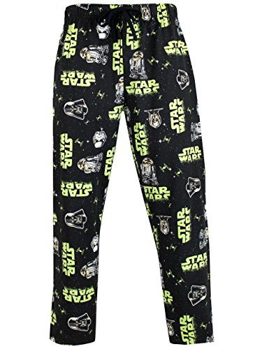 Star Wars Herren Stormtrooper & Darth Vader Schlafanzughosen Schwarz X-Large
