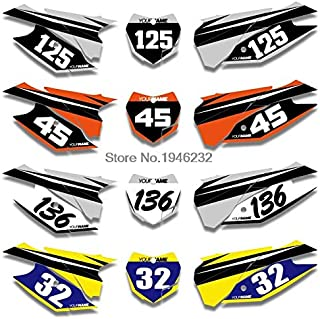 ABRAMOV DMITRY - Custom Backgrounds Number Plate Graphics Sticker & Decals Kit For KTM SX XC SXF XCF 125 150 250 350 300 450 2013 2014 2015