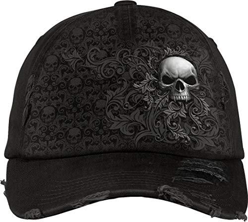 Spiral Skull Scroll Cap schwarz