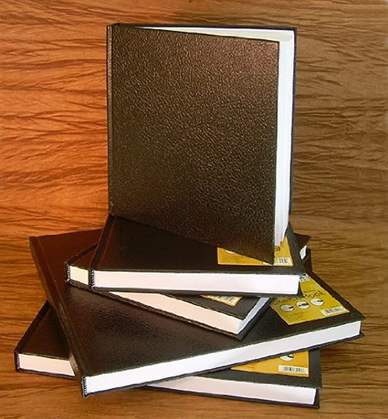 Black Cover Hard Bound Sketch Book- 7x7 Inch Square