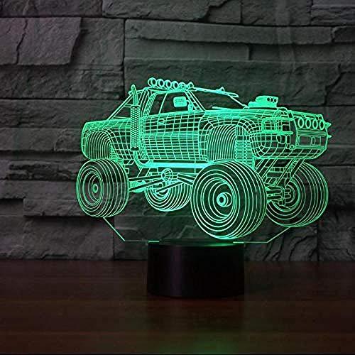 Decoración del hogar Iluminación del estado de ánimo Visual Casual Diseño de zapatos Lámpara de mesa Dormitorio de niños Interruptor táctil LED 3D Luz nocturna degradada