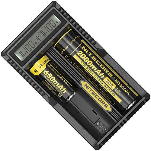 Nitecore UM20 USB-Ladegerät mit LCD-Display für Li-Ion Akku/Zweischachtlader